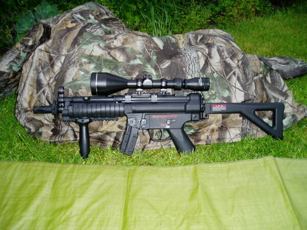 3-9x50 rifle scope on MP5 Airsoft
